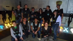 The RNAi team playing laserquest (Spring 2013)