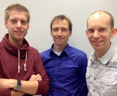 Walter, Ronald and Koen after their publication in PNAS, late 2012