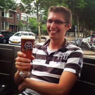 Joël and his favorite Schneider's beer @ Café Jos !