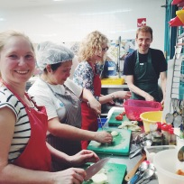 Cooking workshop for Koen's farewell